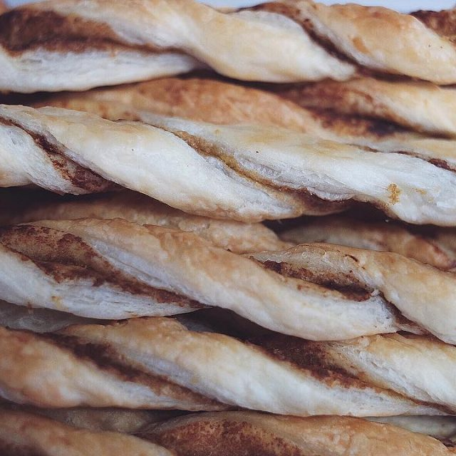 Cheese straws with a vegemite centre